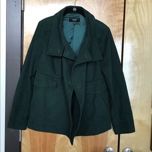 MNG forest green pea coat.
